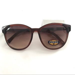 Fossil Round Brown Sunglasses ☀️NWT